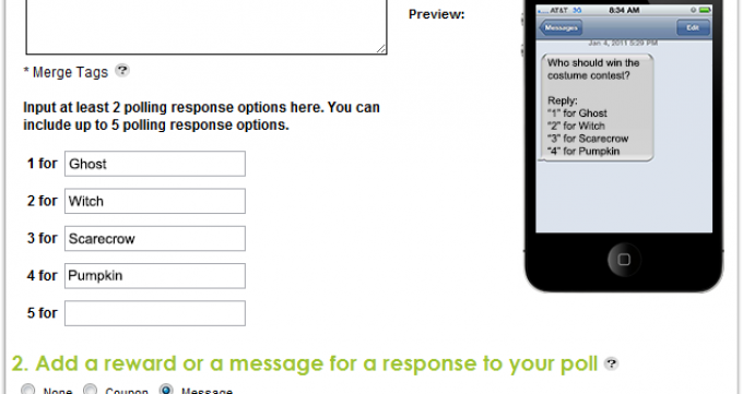 text messaging poll example