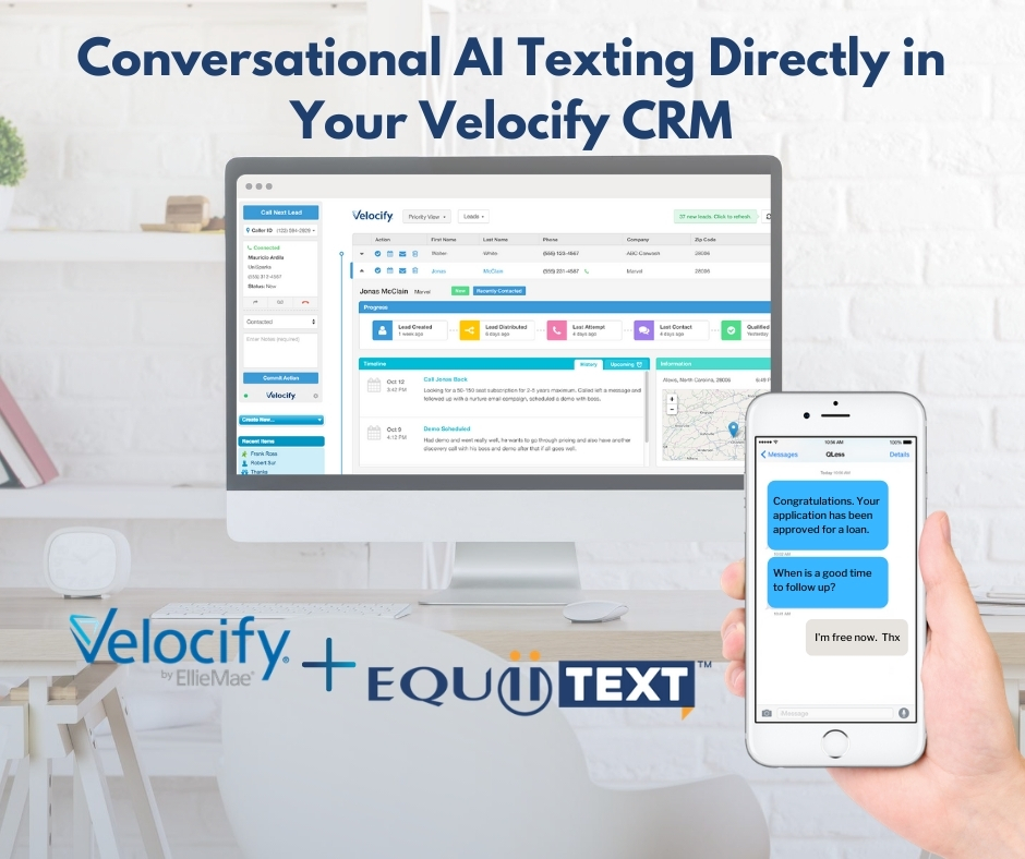 Conversational AI Texting Directly in Your Velocify CRM